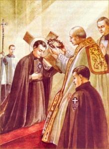 Gabriel receives the Passionist habit