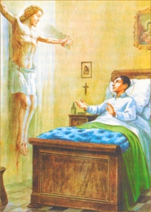 Francis promises his life to god on his sickbed